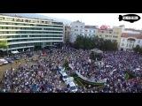 Евромайдан в Болгарии : вид с воздуха ( Євромайдан Евромайдан Протест в Софии декабря грудня 2013 кризис в болгарии ес евросоюзе )  Протест против Болгарский МАФИИ -которая грабила страну 20 лет